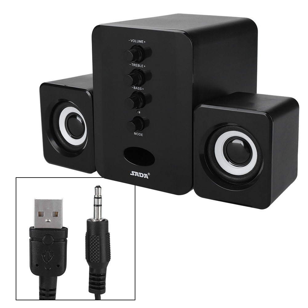 SADA-Bluetooth-Computer-Speaker-Desktop-Laptop-PC-Stereo-Subwoofer-Multimedia thumbnail 86