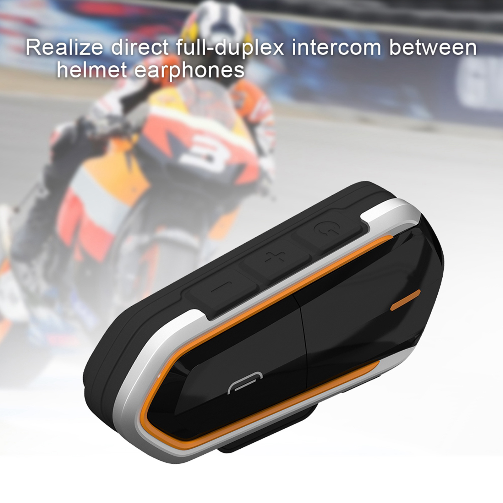 Wireless-Bluetooth-Helmet-Interphone-Earphone-Long-Distance-FM-Helmet-Headset miniature 18