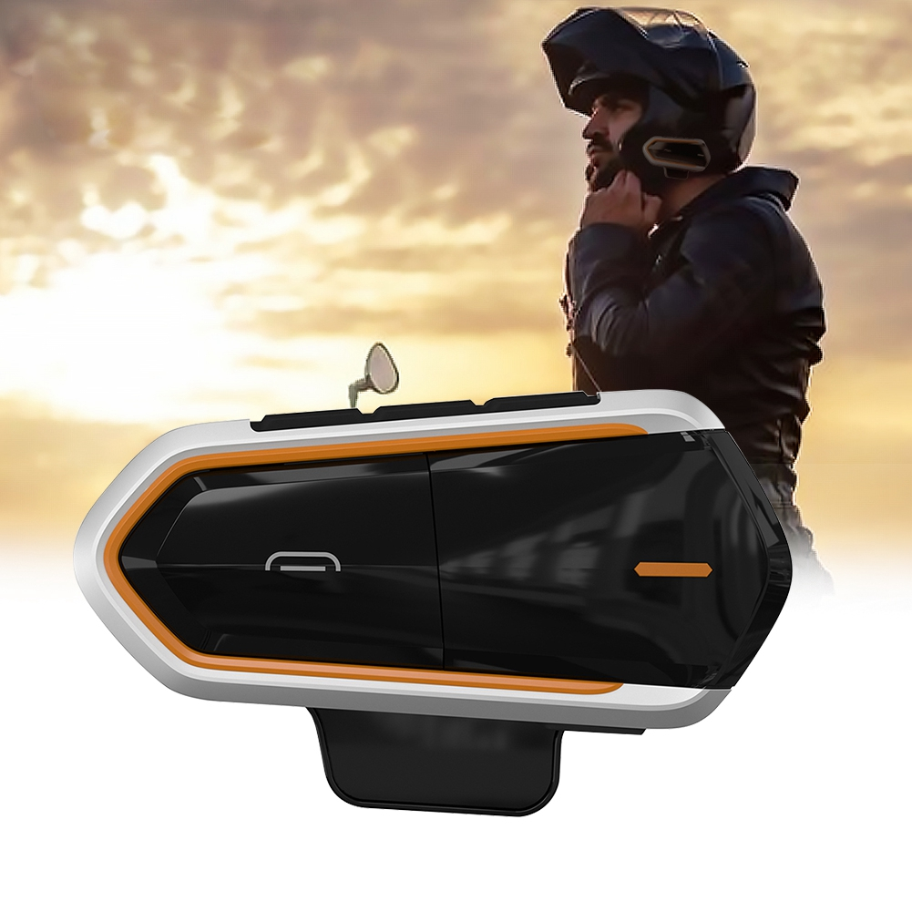 Wireless-Bluetooth-Helmet-Interphone-Earphone-Long-Distance-FM-Helmet-Headset miniature 19