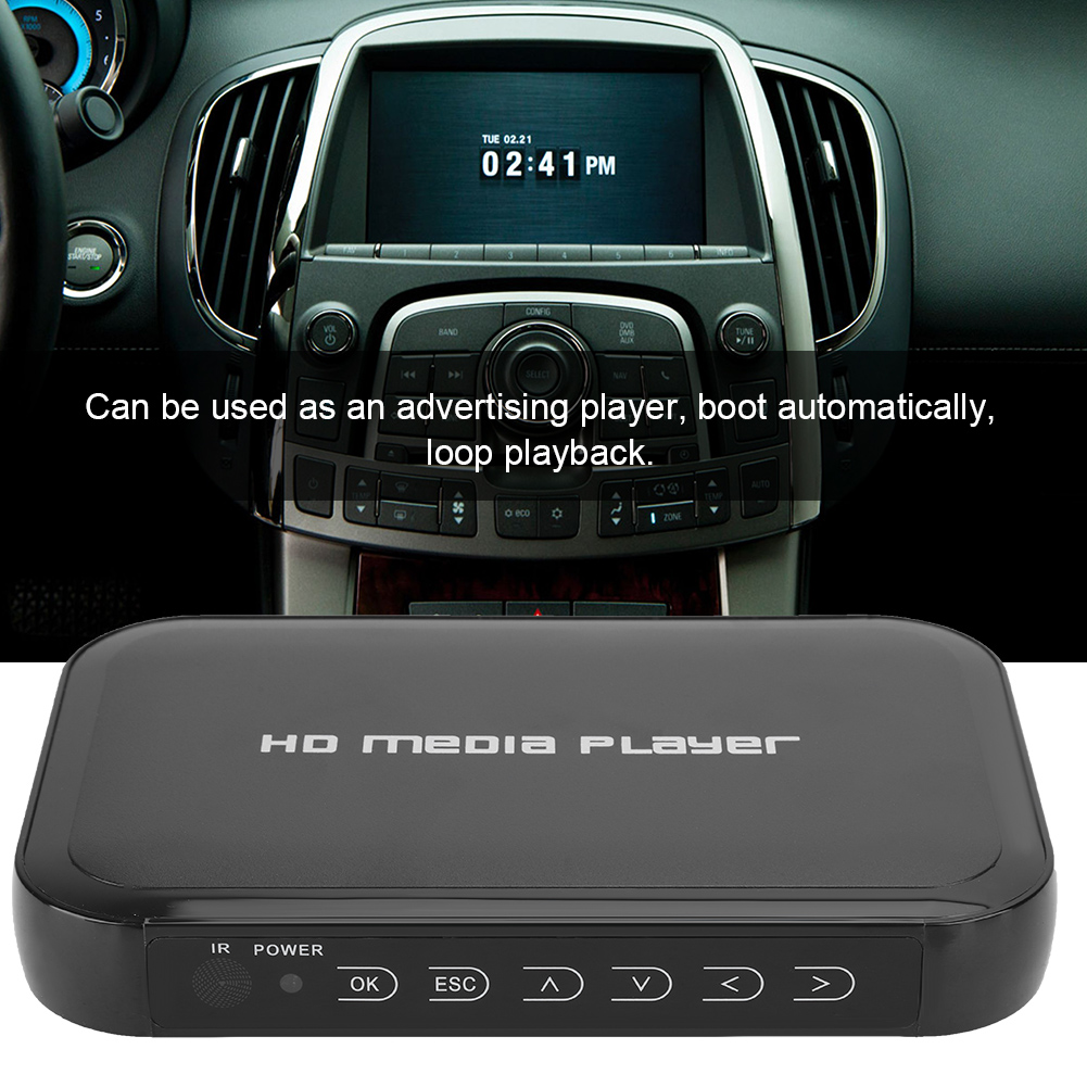 1080P Mini HDMI Multi-Media Player LCD TV Box HD Network Video Hard