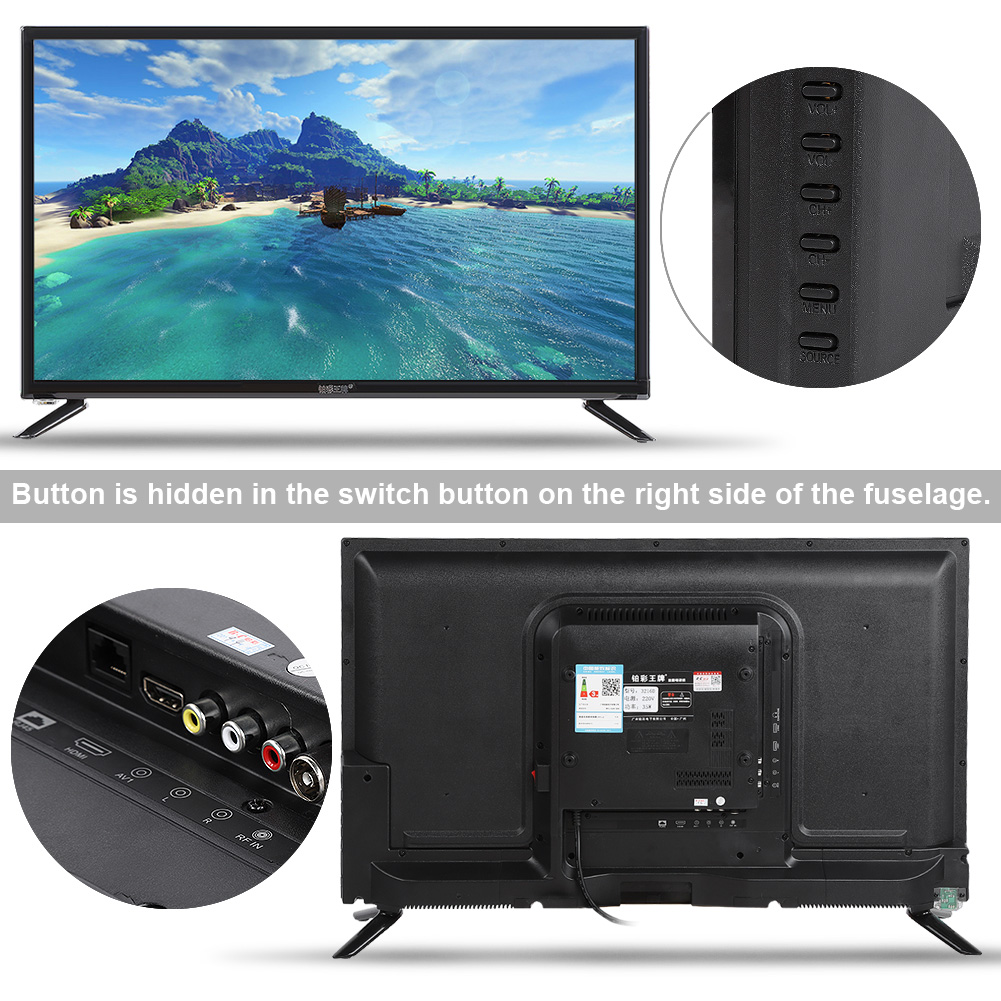 12-039-039-32-039-039-43-039-039-HD-LCD-Protable-Digital-TV-WIFI-2K-4K-1080P-USB-HDMI-RF-Antenna miniature 31