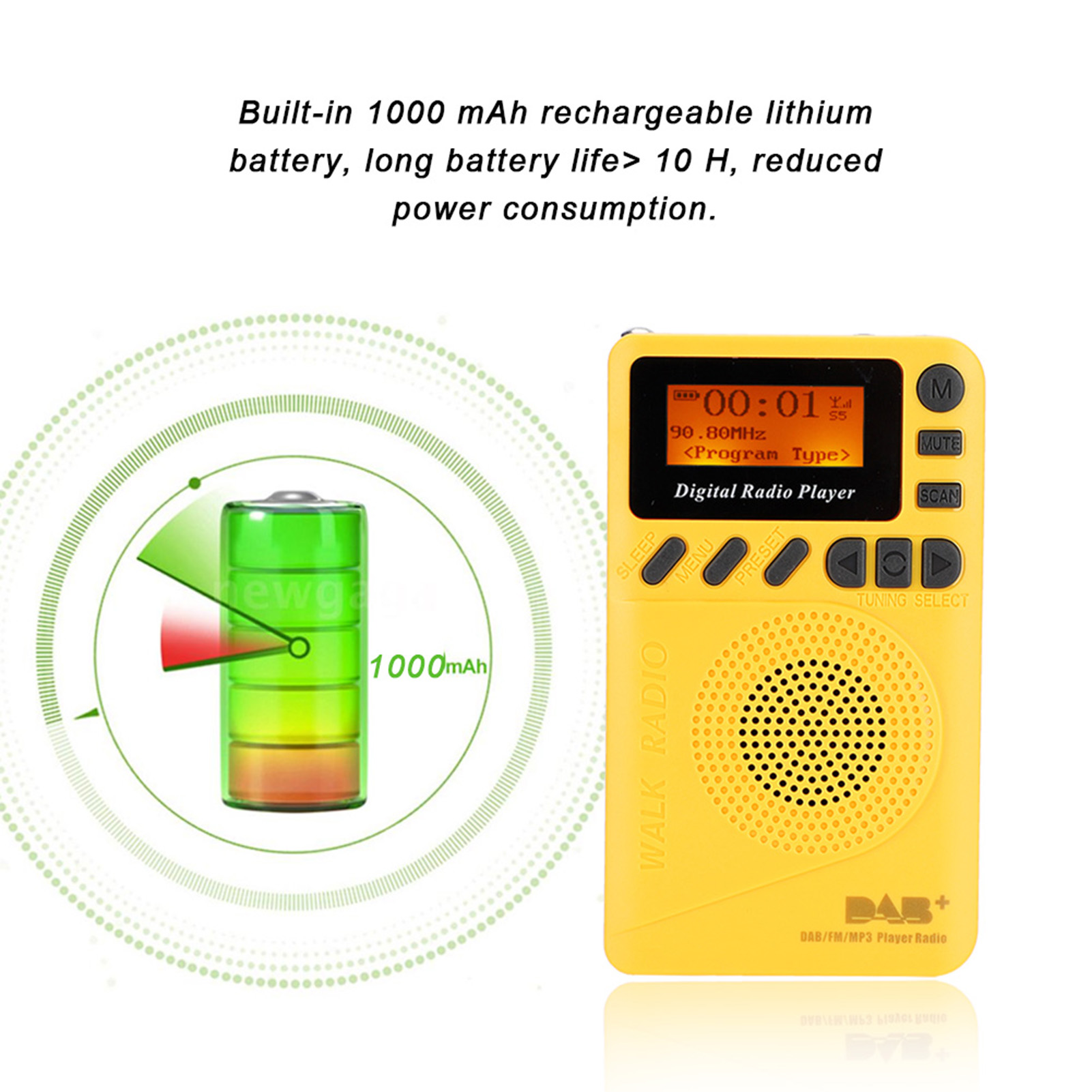 Portable-Digital-World-Full-Band-Radio-Receiver-FM-MW-SW-DAB-Radio-MP3-Player thumbnail 24