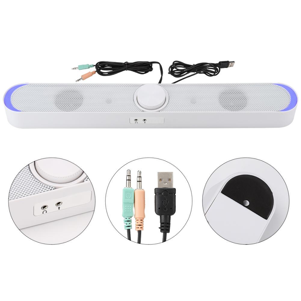 SADA-Bluetooth-Computer-Speaker-Desktop-Laptop-PC-Stereo-Subwoofer-Multimedia thumbnail 13