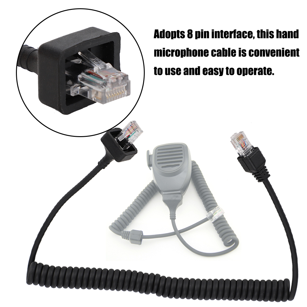 Microphone-Cable-Cord-8Pin-Compatible-w-Kenwood-TM-331A-TM-431A-TM-531A-TM-241A thumbnail 38