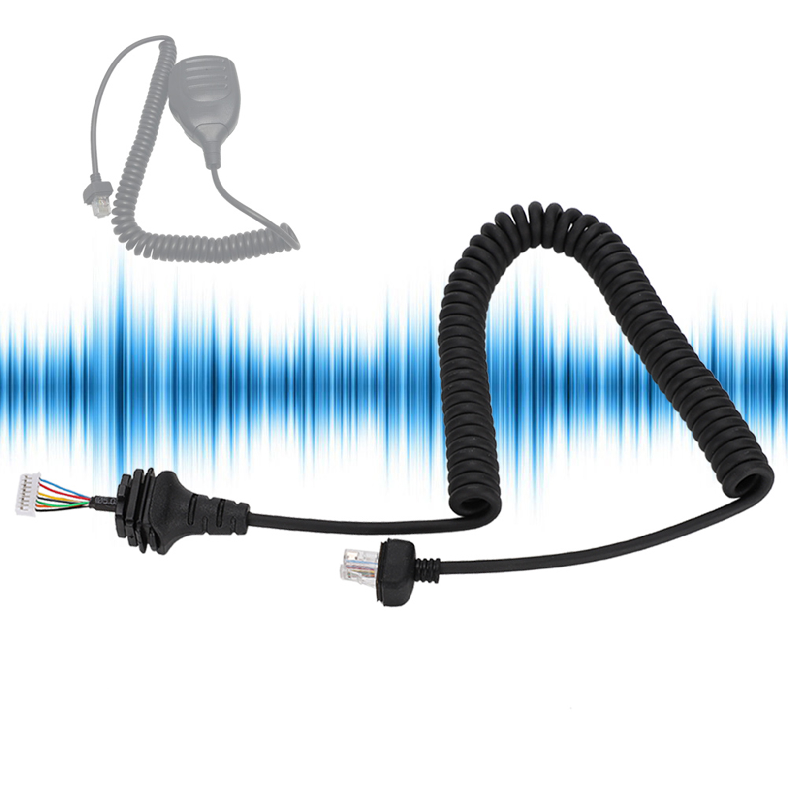 Microphone-Cable-Cord-8Pin-Compatible-w-Kenwood-TM-331A-TM-431A-TM-531A-TM-241A thumbnail 34