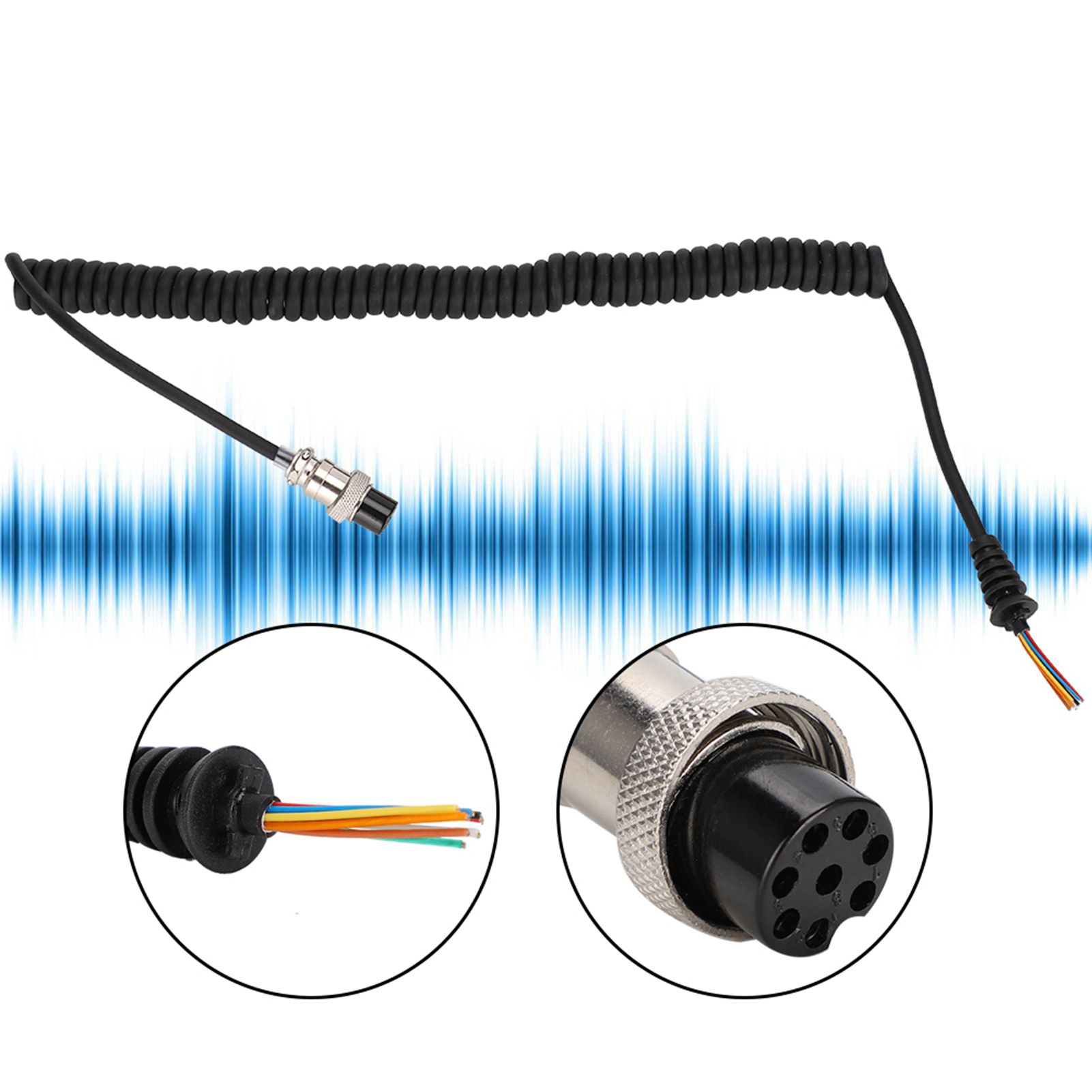 Microphone-Cable-Cord-8Pin-Compatible-w-Kenwood-TM-331A-TM-431A-TM-531A-TM-241A thumbnail 16