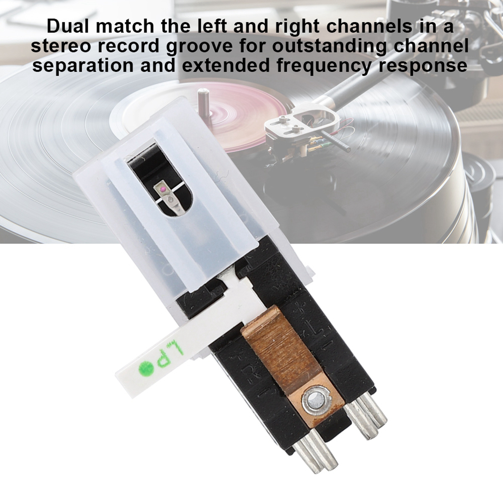 Audio-Magnetic-Cartridge-Stylus-with-LP-Vinyl-Needle-for-Turntable-Record-Player thumbnail 21