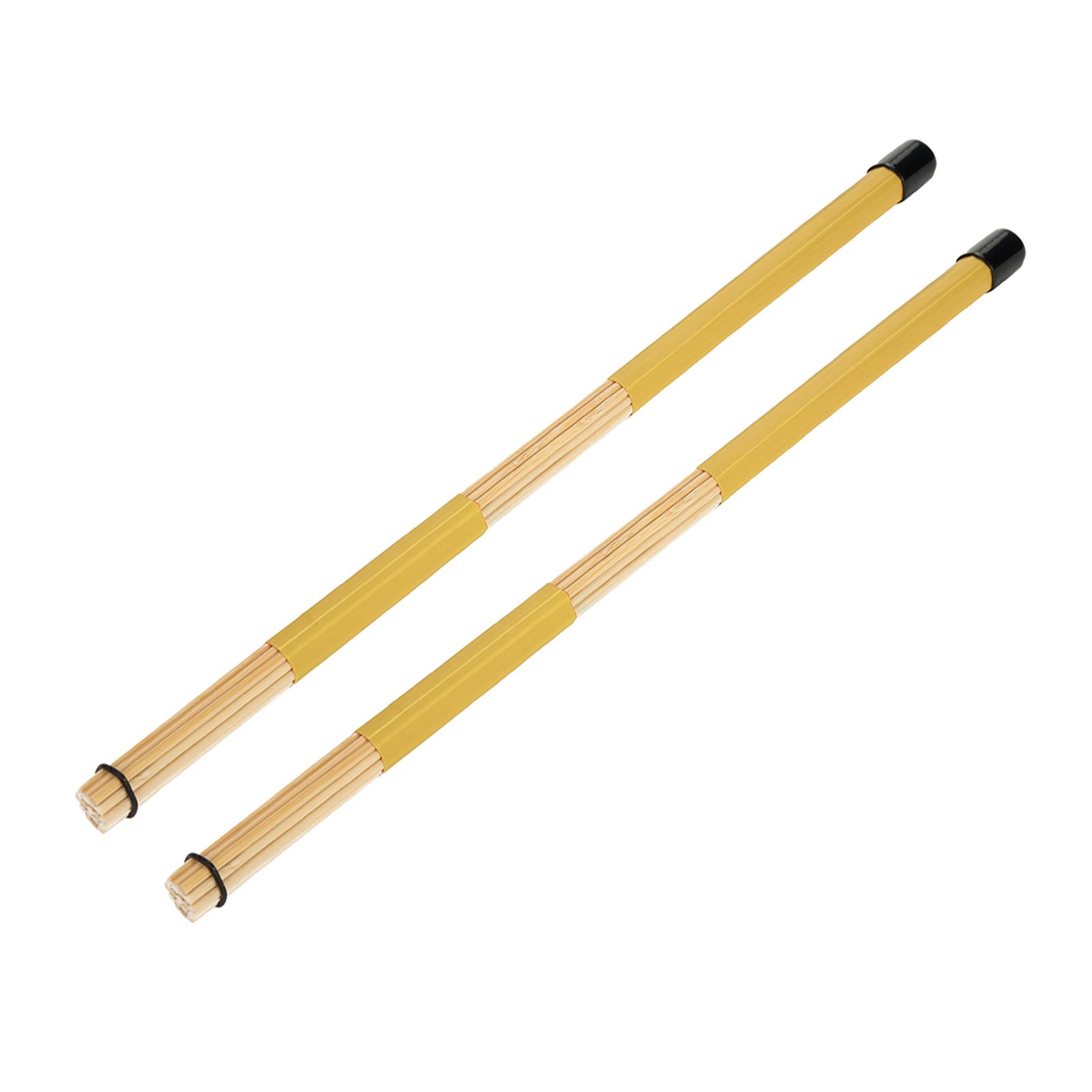 Pair-of-Jazz-Drum-Brushes-Bamboo-Drum-Brush-4Color-Option-Rod-Drum-Sticks