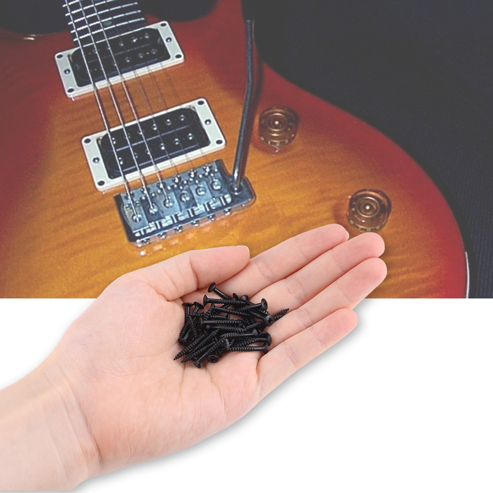 40Pcs-Guitar-Humbucker-Pickup-Parts-Metal-Surround-Mounting-Ring-Screws-3-Colors