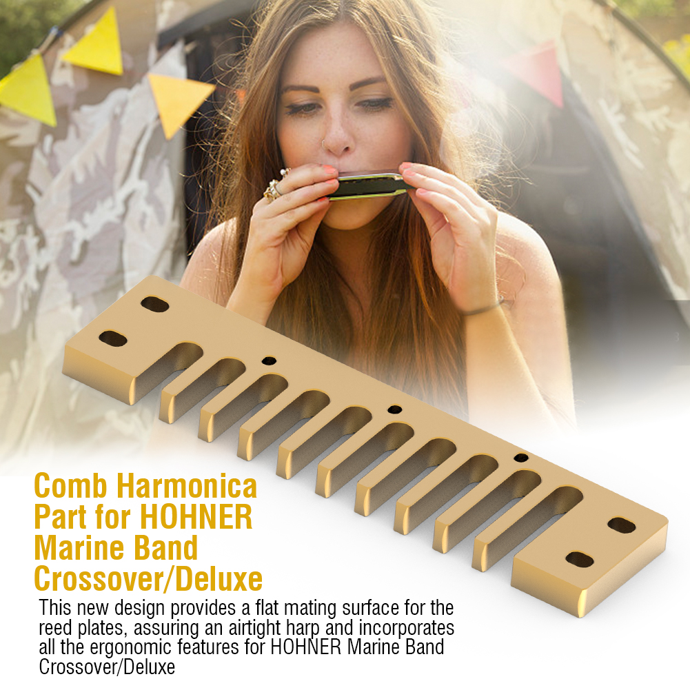 Aluminum-Alloy-Solid-Comb-Harmonica-Part-for-Hohner-Marine-Band-Crossover-Deluxe thumbnail 8