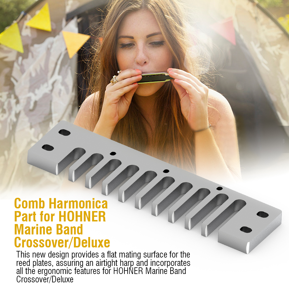 Aluminum-Alloy-Solid-Comb-Harmonica-Part-for-Hohner-Marine-Band-Crossover-Deluxe thumbnail 15