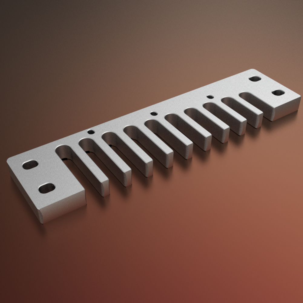 Aluminum-Alloy-Solid-Comb-Harmonica-Part-for-Hohner-Marine-Band-Crossover-Deluxe thumbnail 19