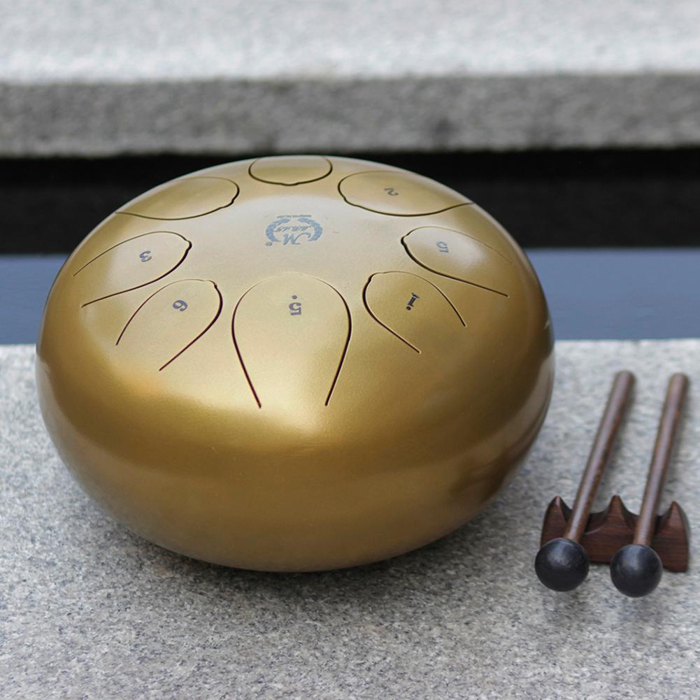 10-034-24cm-Hand-Pan-Handpan-Tongue-Drum-Tambour-en-Metal-Mallette-de-Rangement