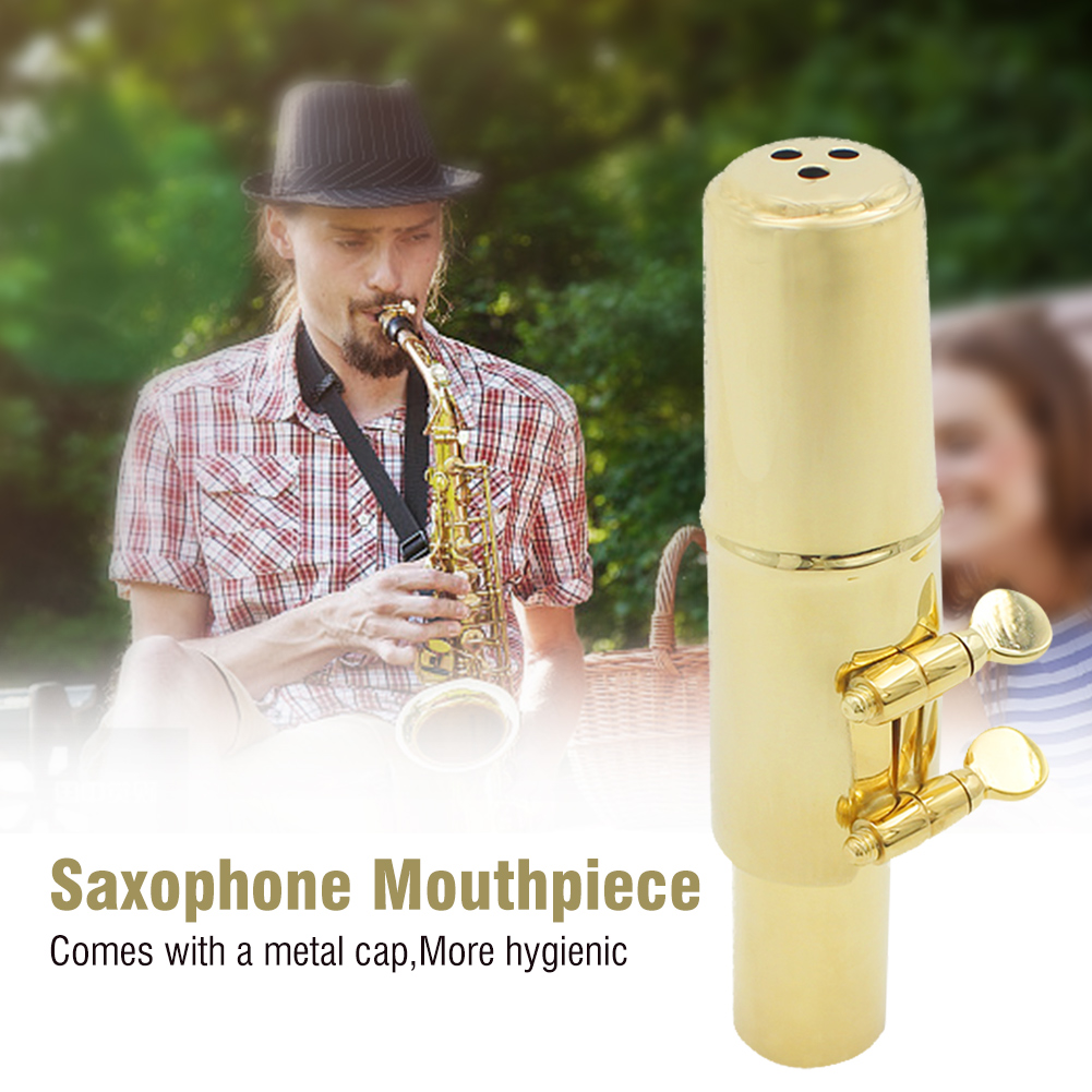 Jazz-Alto-Sax-Saxophone-Mouthpiece-Metal-with-Mouthpiece-Cap-amp-Pads-Professional thumbnail 14