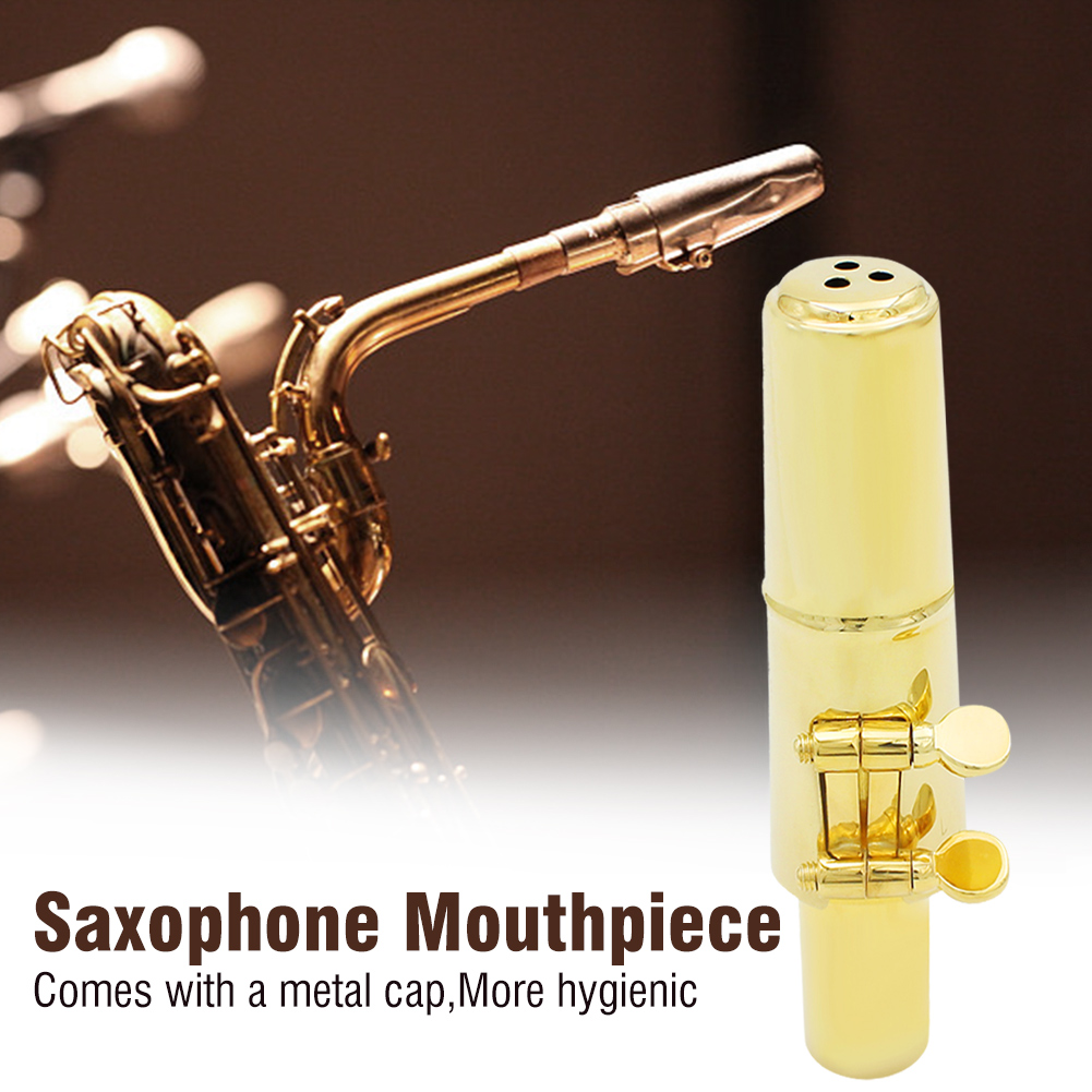 Jazz-Alto-Sax-Saxophone-Mouthpiece-Metal-with-Mouthpiece-Cap-amp-Pads-Professional thumbnail 27