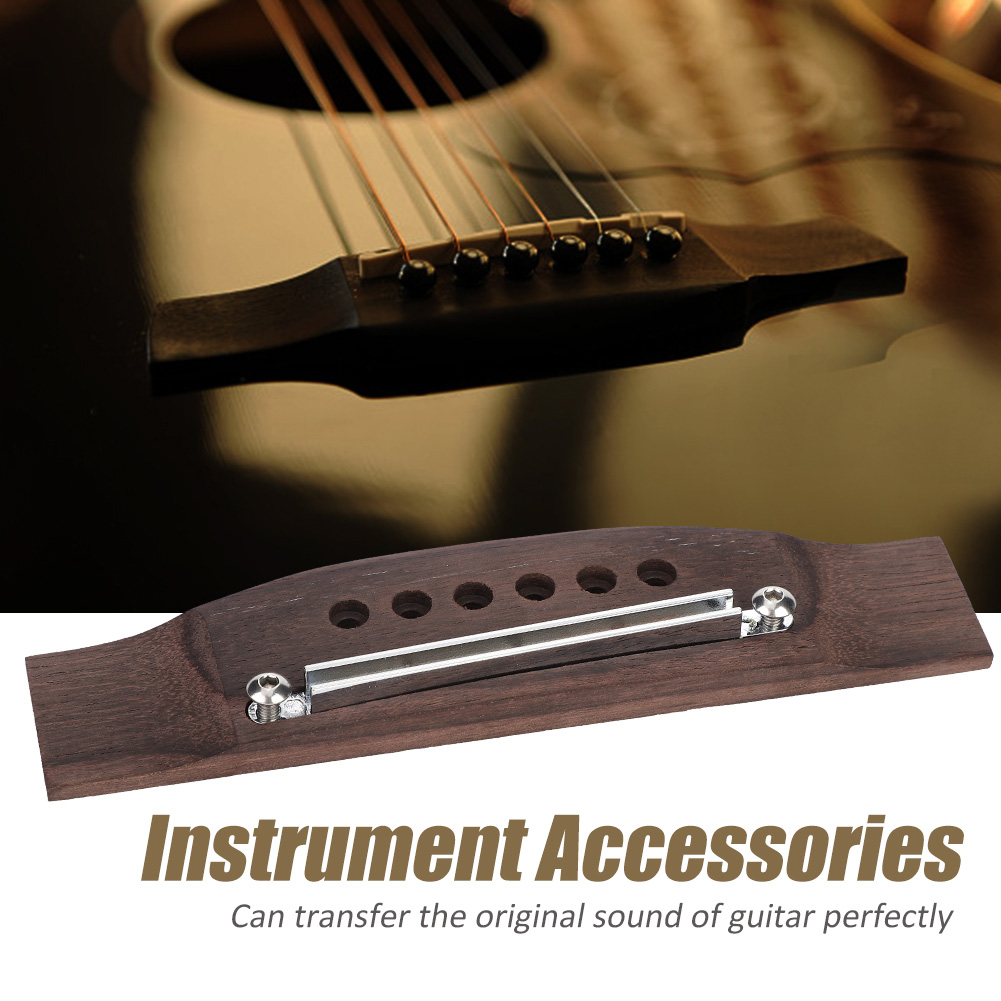 Rosewood-Guitar-Bridge-Adjustable-Shaft-Saddle-Nut-Set-6-Strings-Acoustic-Guitar