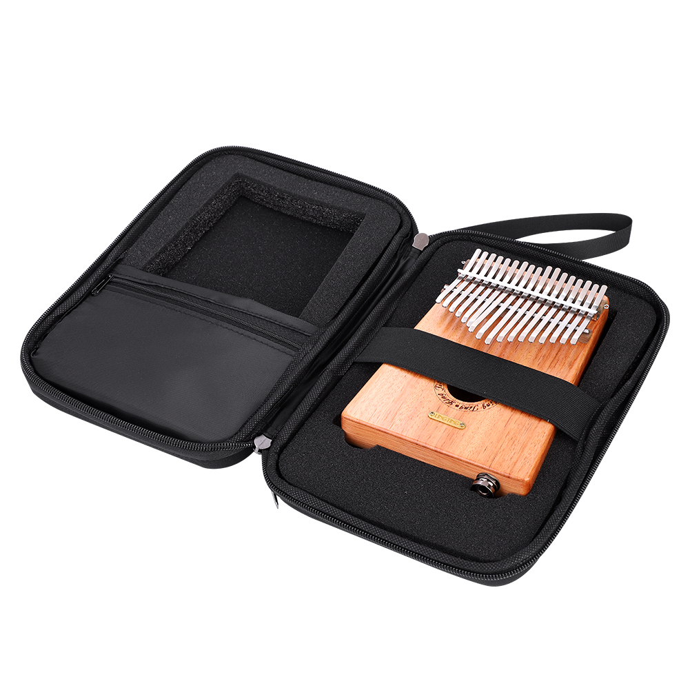 10-17-Key-Kalimba-Case-Water-resistant-Thumb-Piano-Mbira-Case-Bag-Black-Portable miniature 7