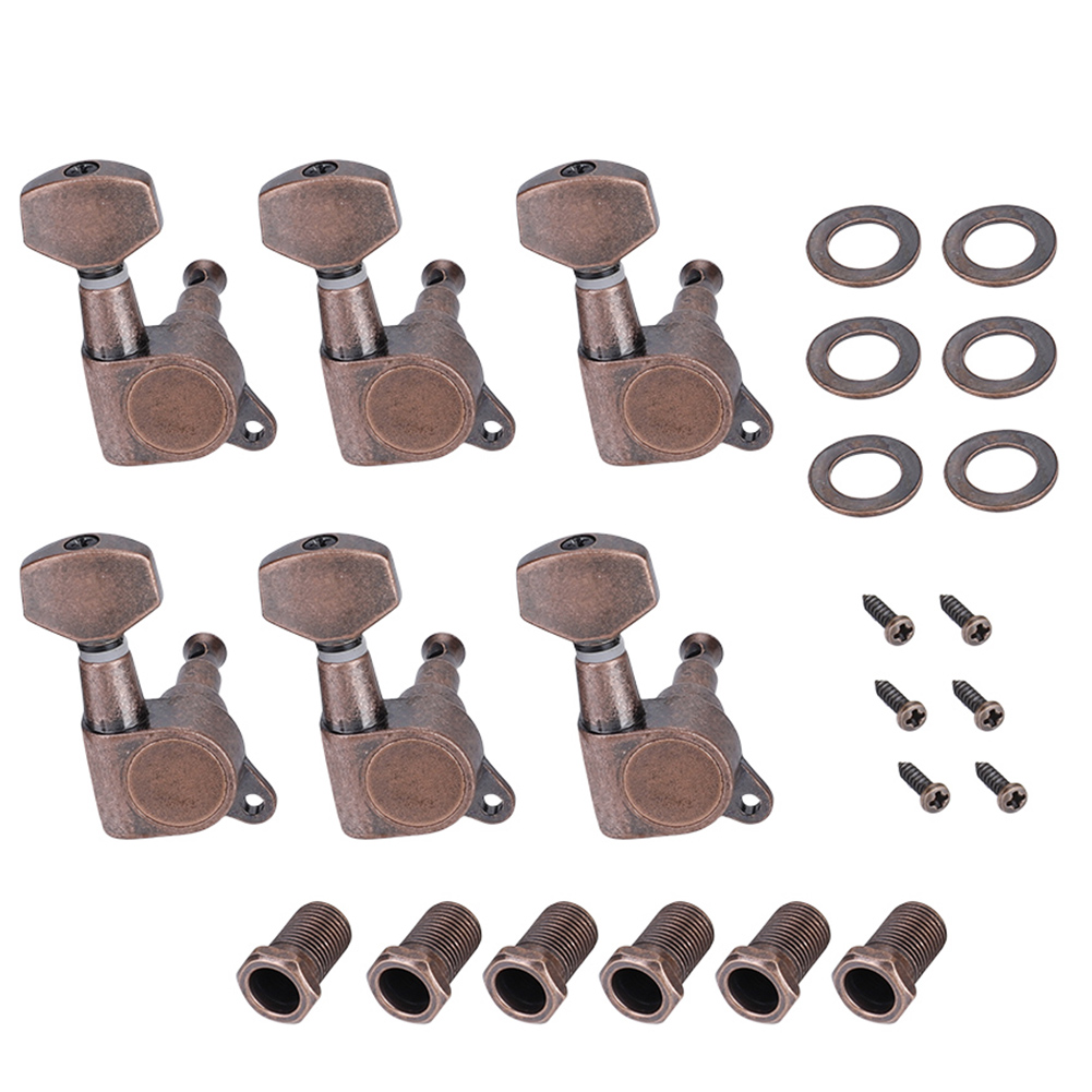 6pcs-6R-Guitar-Tuning-Pegs-Set-Tuners-Keys-Machine-Heads-Electric-Guitar-Parts thumbnail 2