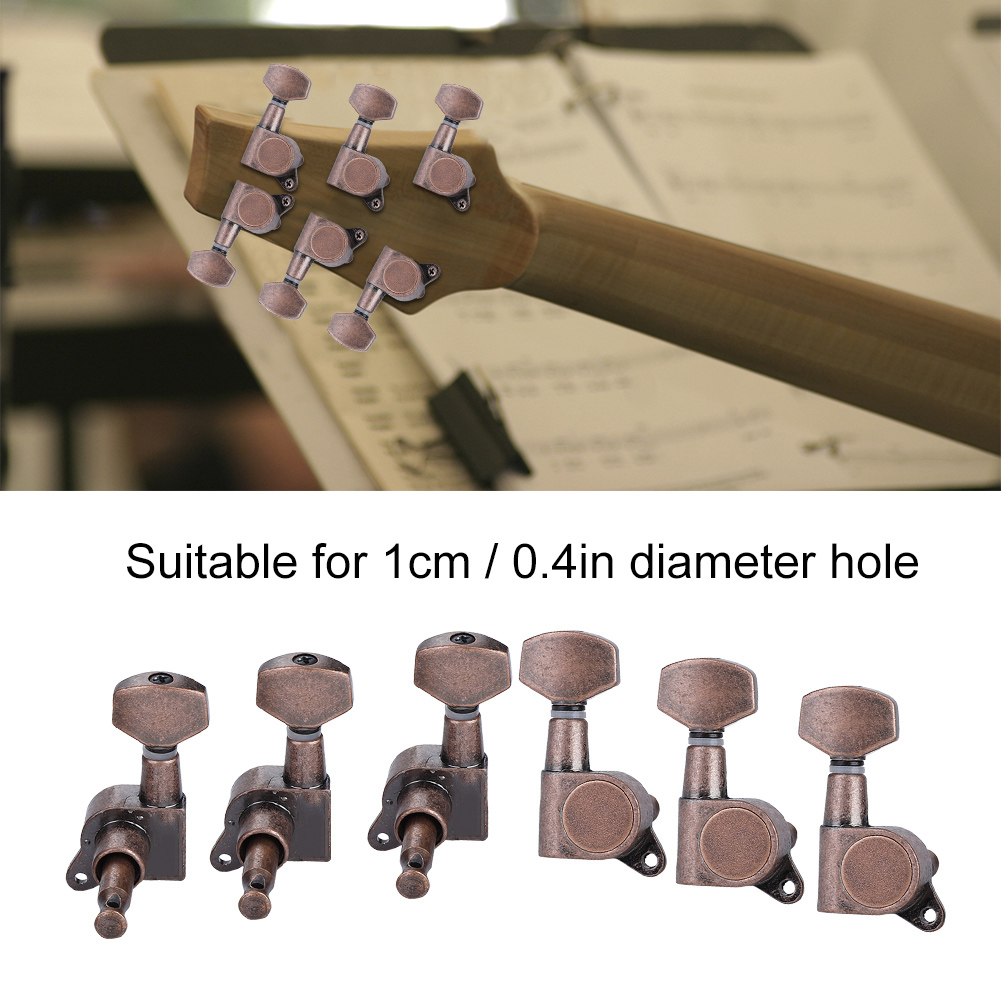 6pcs 6r guitar tuning pegs set tuners keys machine heads electric guitar parts 809619379169 ebay. Black Bedroom Furniture Sets. Home Design Ideas