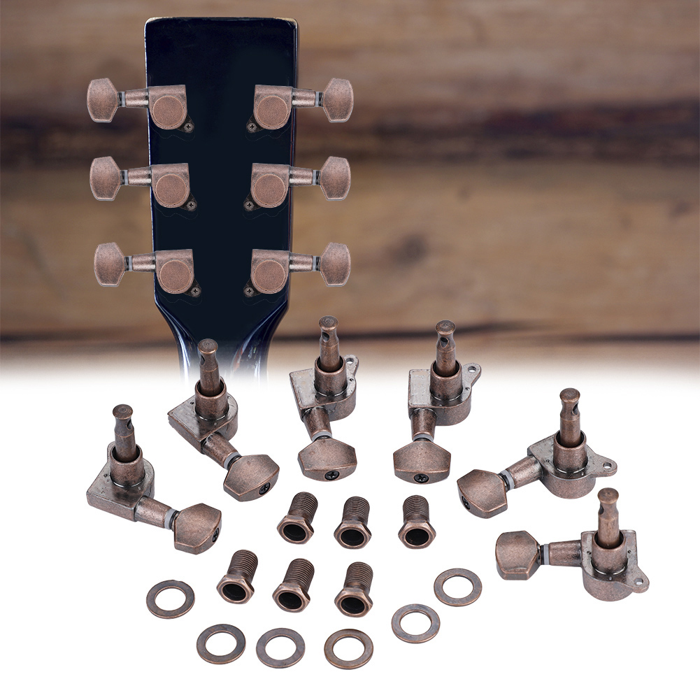 6pcs-6R-Guitar-Tuning-Pegs-Set-Tuners-Keys-Machine-Heads-Electric-Guitar-Parts thumbnail 3