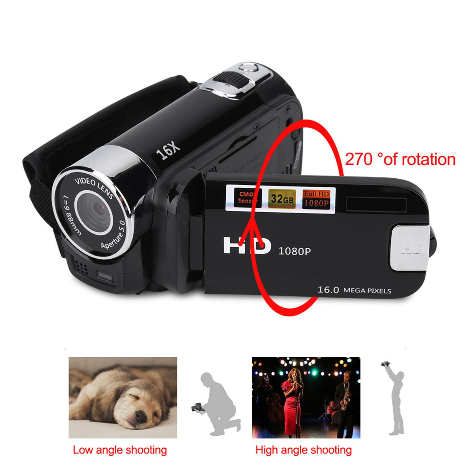 1080P-Camcorder-Digital-Video-Camera-TFT-LCD-Sceen-24MP-16x-DV-AV-Night-Vision-F thumbnail 25