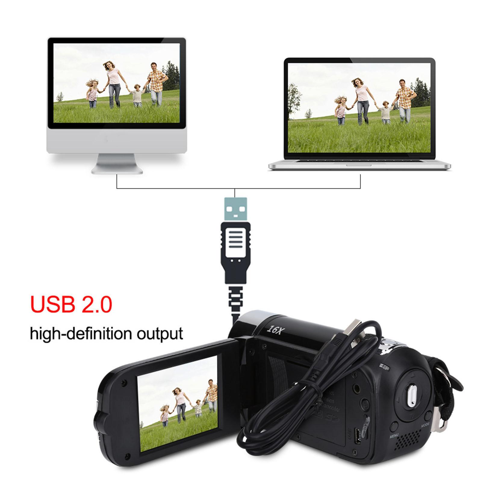1080P-Camcorder-Digital-Video-Camera-TFT-LCD-Sceen-24MP-16x-DV-AV-Night-Vision-F thumbnail 26