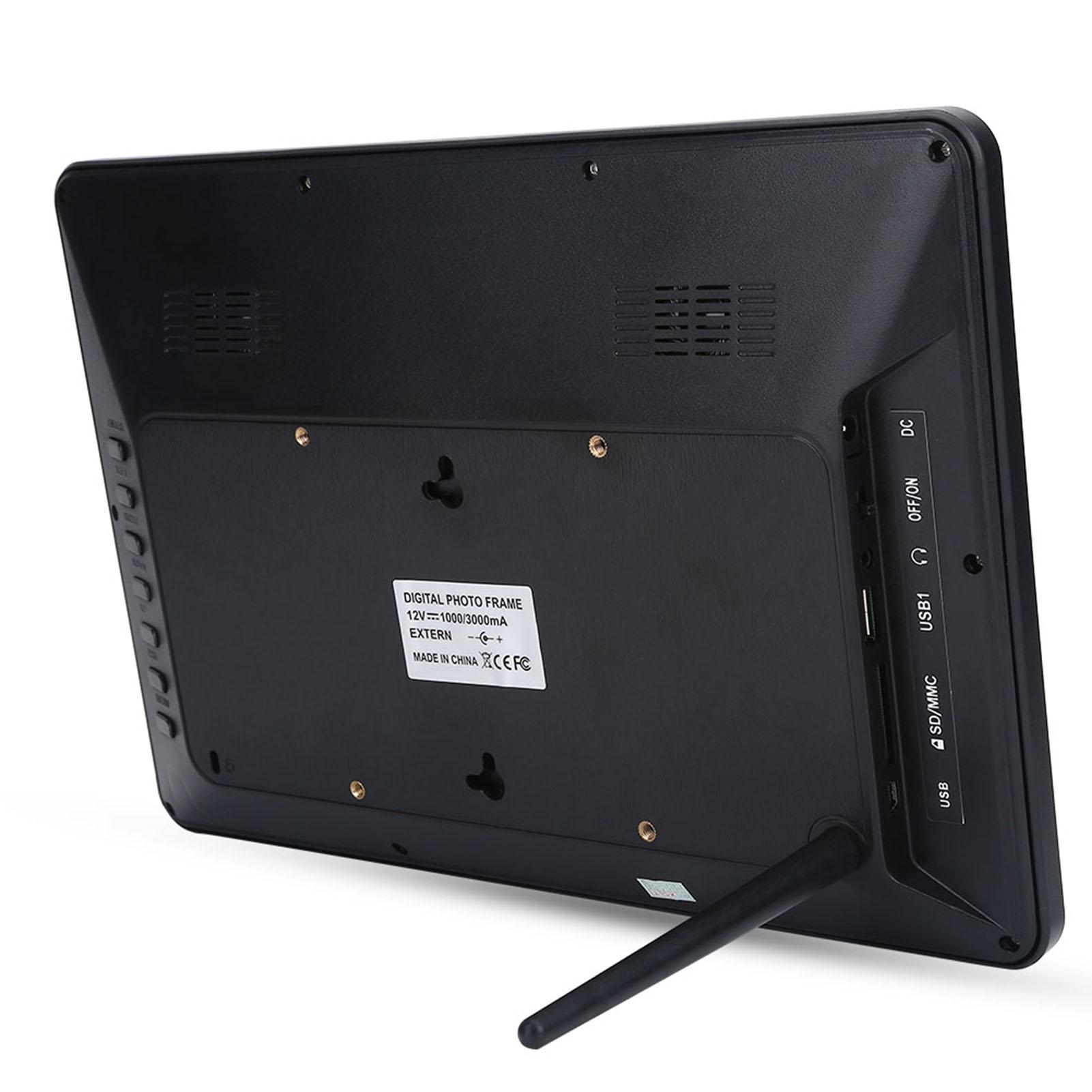 12in 1280X800 Digitaler Bilderrahmen Musik/Movie /Video Player mit ...