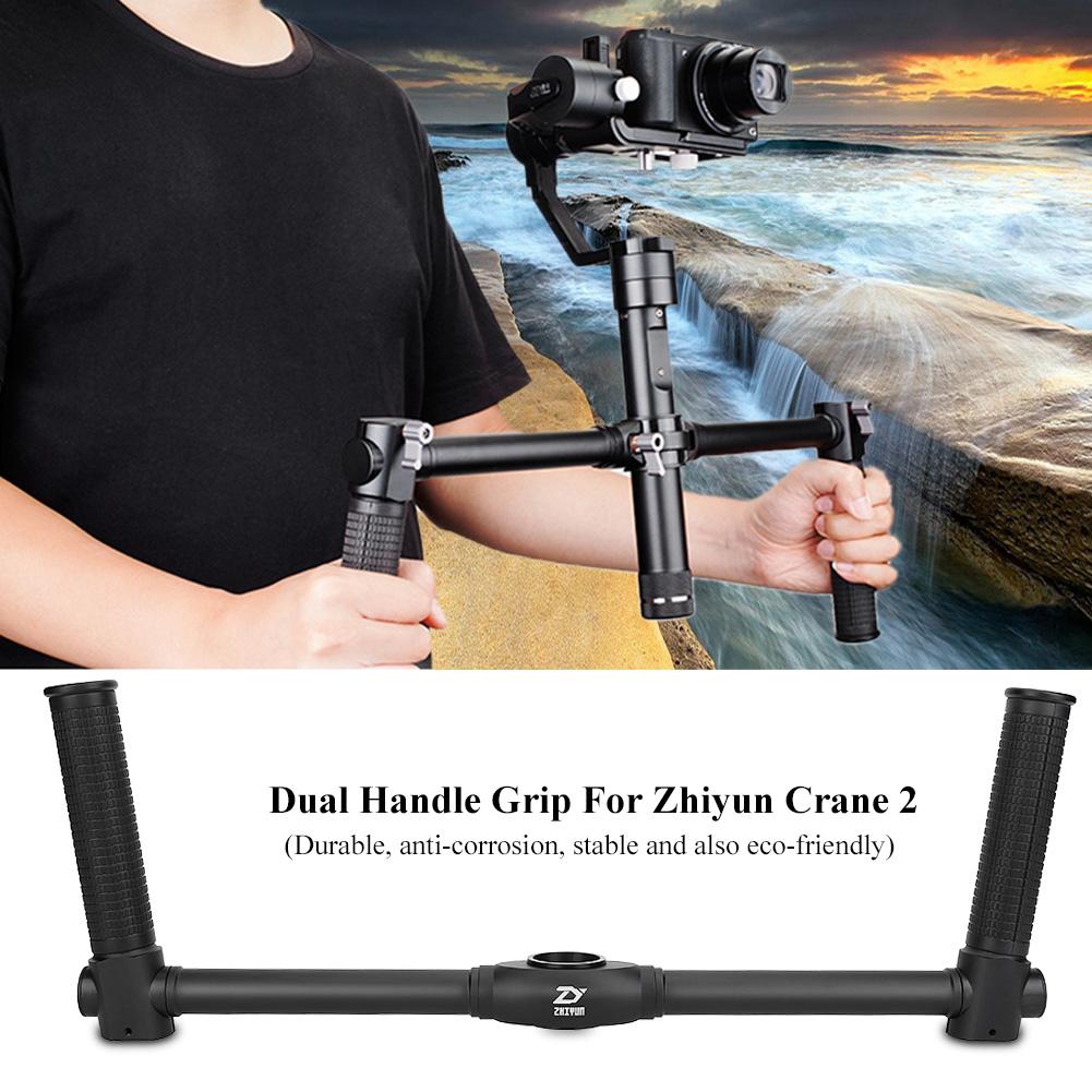 Alloy Dual Handle Grip Camera Handheld Stabilizer For Zhiyun