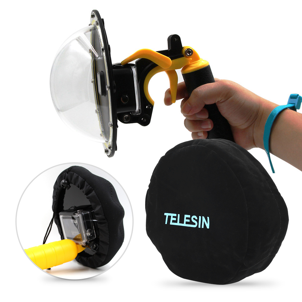 Telesin-Waterproof-Housing-Cover-Case-Lens-Cap-Dome-Port-for-GoPro-Hero-5-4 thumbnail 15