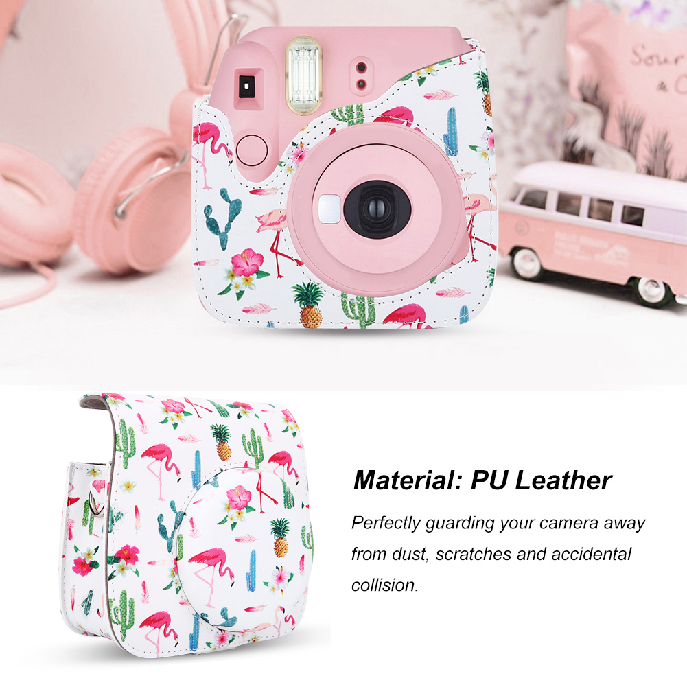 PU-Leather-Camera-Case-Bag-Cover-W-Shoulder-Strap-for-Mini-8-Mini-9-Cameras-DY thumbnail 18