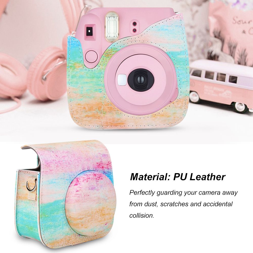 PU-Leather-Camera-Case-Bag-Cover-W-Shoulder-Strap-for-Mini-8-Mini-9-Cameras-DY thumbnail 54