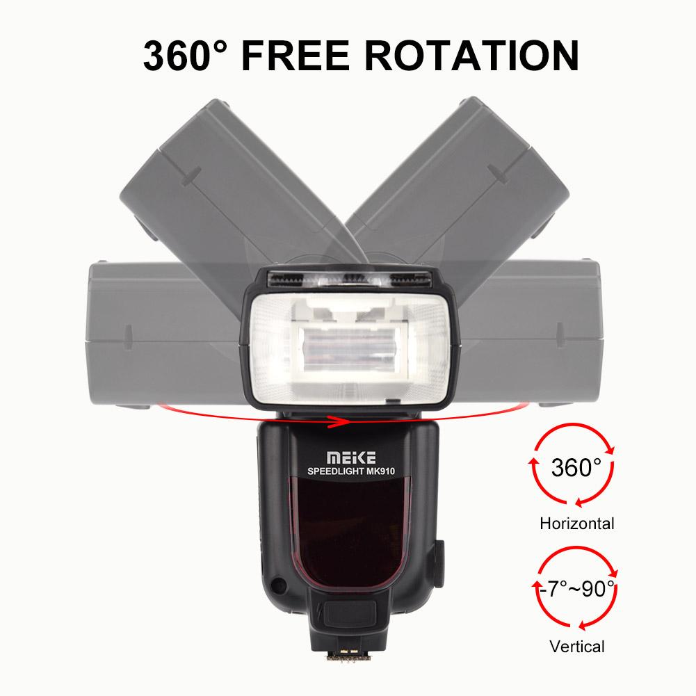 Meike-MK-910-i-TTL-High-Speed-Sync-1-8000s-Flash-Speedlite-replacement-for-Nikon thumbnail 27