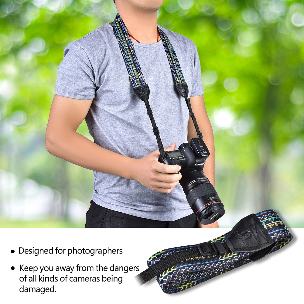 PULUZ-Vintage-Shoulder-Neck-Belt-Strap-for-DSLR-Canon-Sony-Nikon-Digital-Camera
