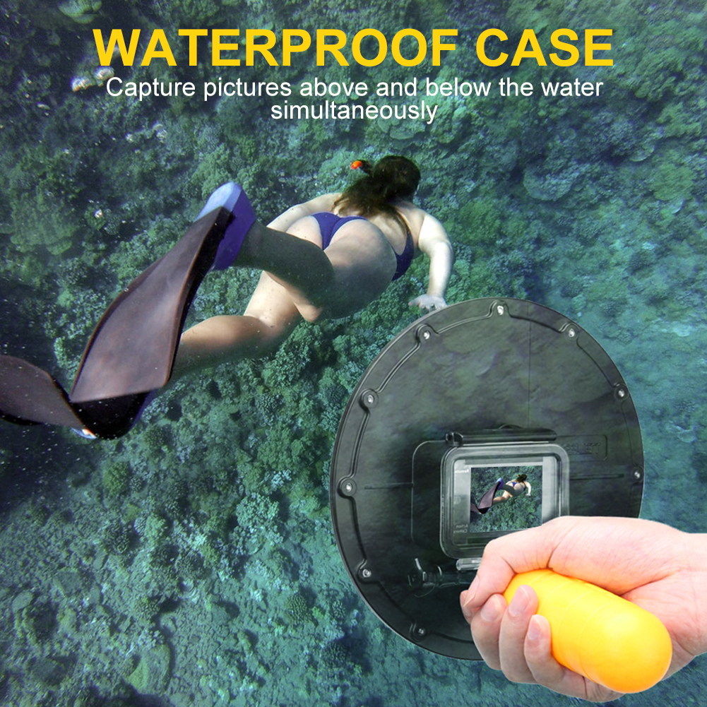 Telesin-Waterproof-Housing-Cover-Case-Lens-Cap-Dome-Port-for-GoPro-Hero-5-4 thumbnail 23