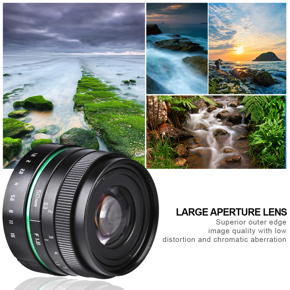 Details about 25mm F/1 8 Wide Angle High Definition Lens for Mirrorless  Cameras with Adapter