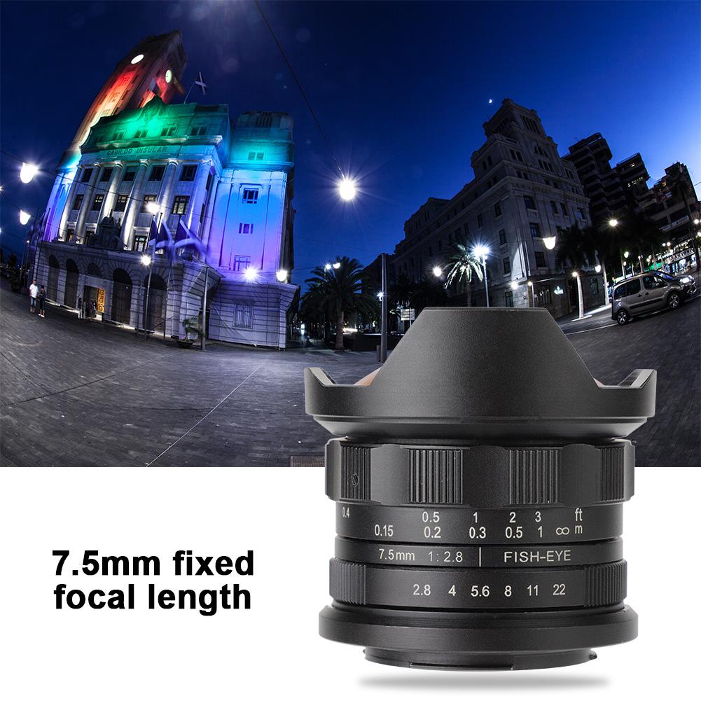 F2-8-F22-7-5mm-180-Lente-Ojo-De-Pez-Accesorio-Para-Canon-Mirroless-Camara