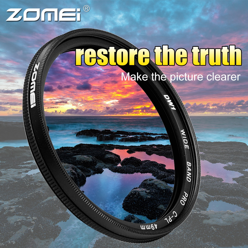 ZOMEI-Ultra-Slim-40-5-86mm-Glass-Cpl-Circular-Optical-Lens-Filter-Accessory-Kit thumbnail 16