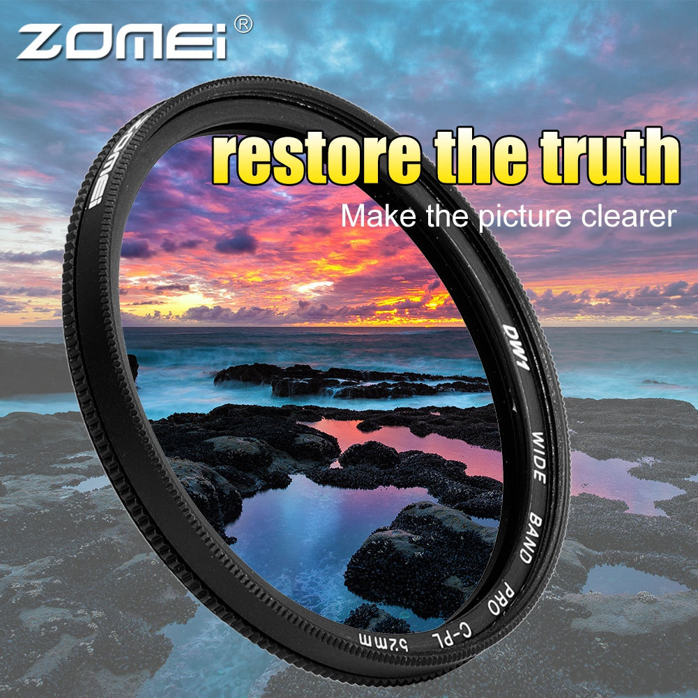 ZOMEI-Ultra-Slim-40-5-86mm-Glass-Cpl-Circular-Optical-Lens-Filter-Accessory-Kit thumbnail 19