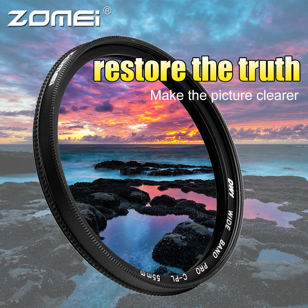 ZOMEI-Ultra-Slim-40-5-86mm-Glass-Cpl-Circular-Optical-Lens-Filter-Accessory-Kit thumbnail 22