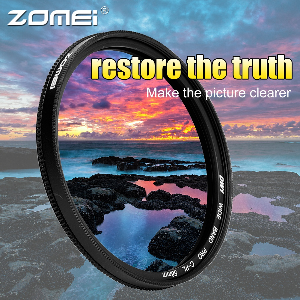 ZOMEI-Ultra-Slim-40-5-86mm-Glass-Cpl-Circular-Optical-Lens-Filter-Accessory-Kit thumbnail 25