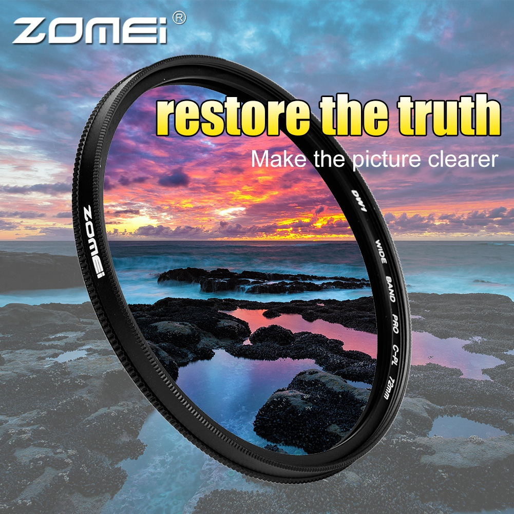 ZOMEI-Ultra-Slim-40-5-86mm-Glass-Cpl-Circular-Optical-Lens-Filter-Accessory-Kit thumbnail 34