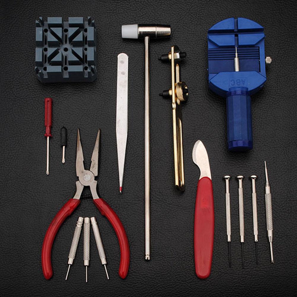 14-16pc-Uhrmacher-Uhr-Reparatur-Werkzeug-Kit-Set-Back-Case-Opener-Remover-Spring-Pin Indexbild 17