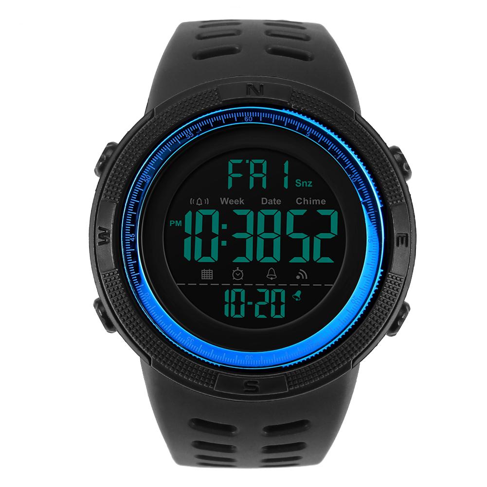Skmei-Sport-Men-039-s-Waterproof-Wristwatch-50M-Dive-Swim-LED-Digital-Watch