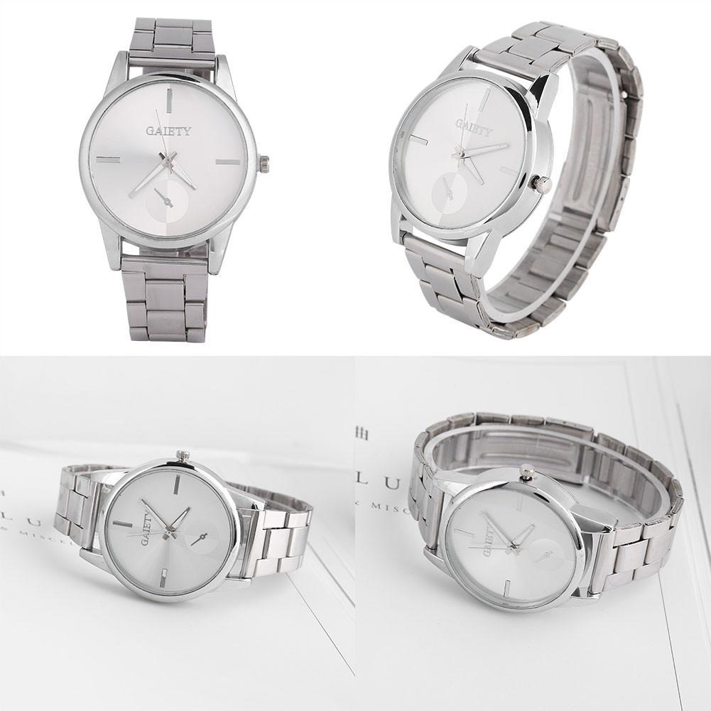 Women-039-s-Men-039-s-Analog-Quartz-Watch-Alloy-Band-Round-Wristwatch-Business-Luxury-GL