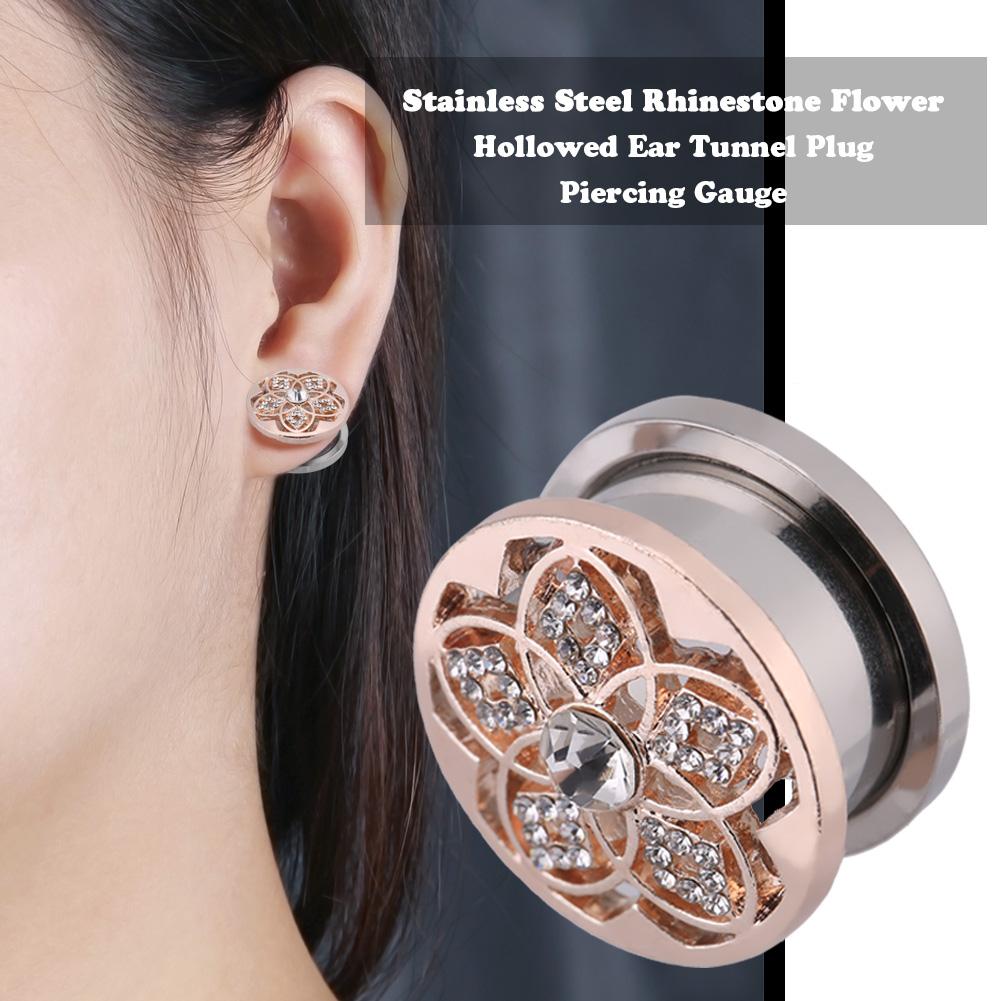 1pc Ear Plug Stud Earring Tunnel Stretcher Expander
