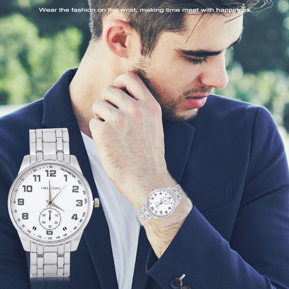 Fashion-Men-039-s-Stainless-Steel-Wrist-Watch-Quartz-Analog-Sport-Business-Watches
