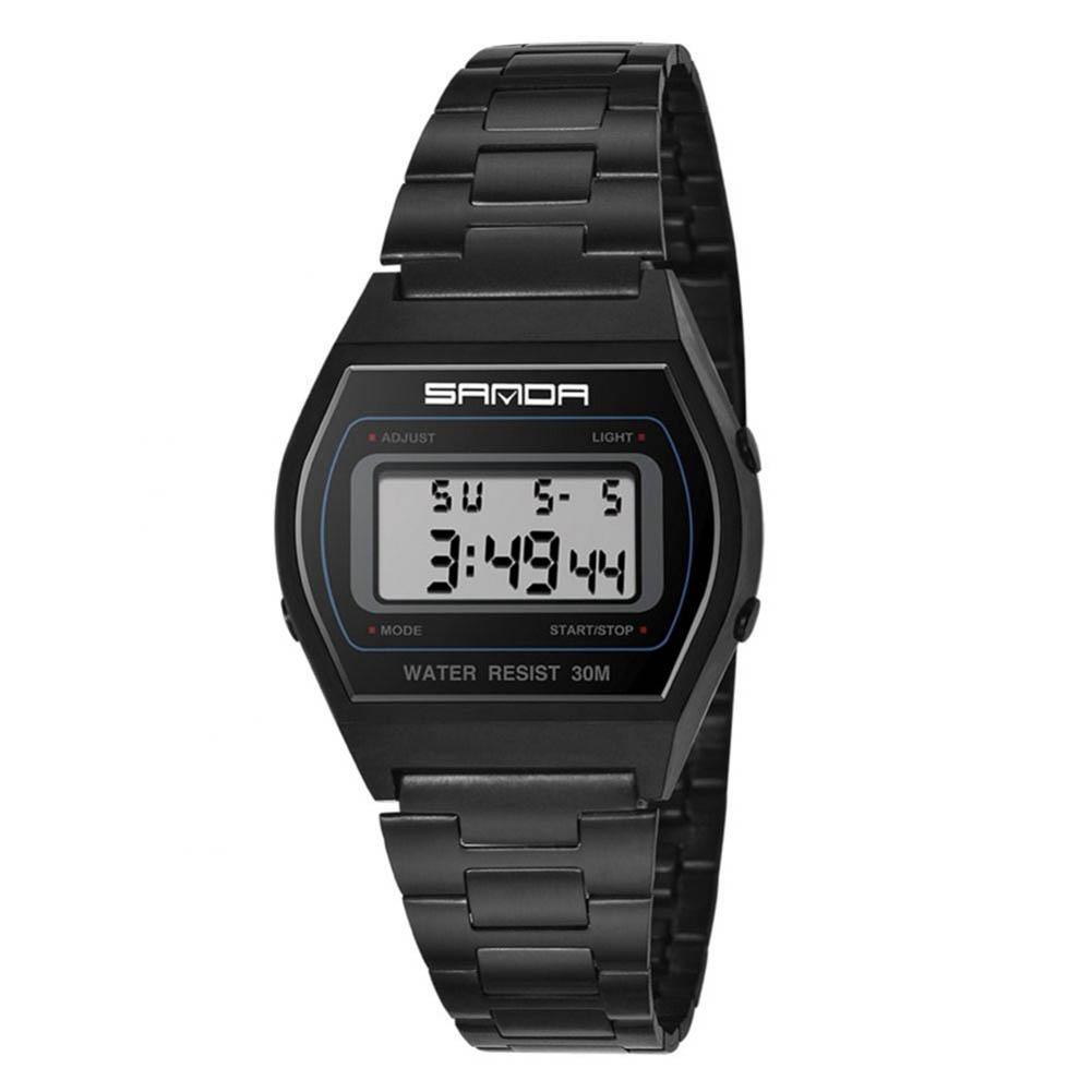 SANDA-Unisex-Fashion-Watches-Steel-Date-Digital-LED-Quartz-Square-Wrist-Watch