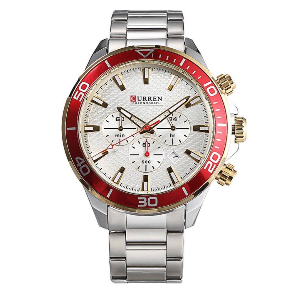 Fashion-Curren-Men-Date-Stainless-Steel-Military-Analog-Quartz-Sport-Wrist-Watch