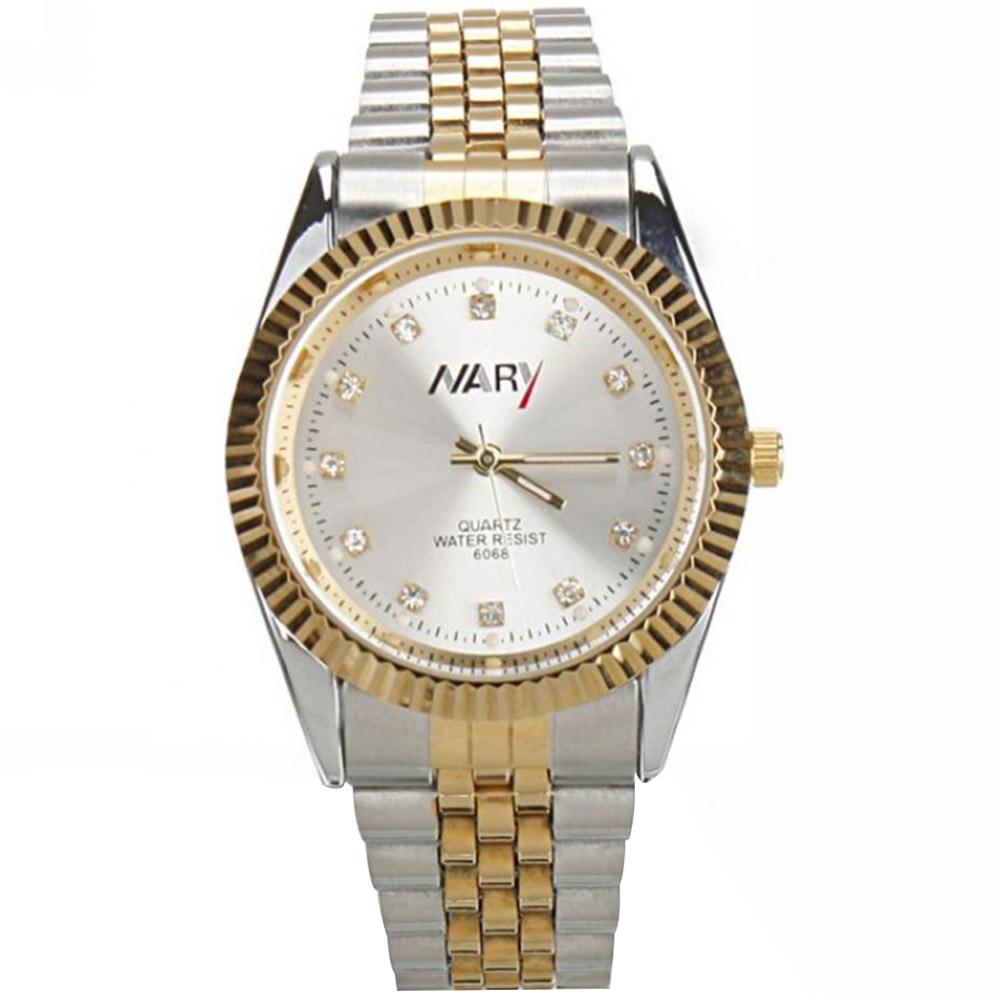 Fashion-Men-Women-Couples-Watch-Stainless-Steel-Gold-Case-Quartz-Wrist-Watches