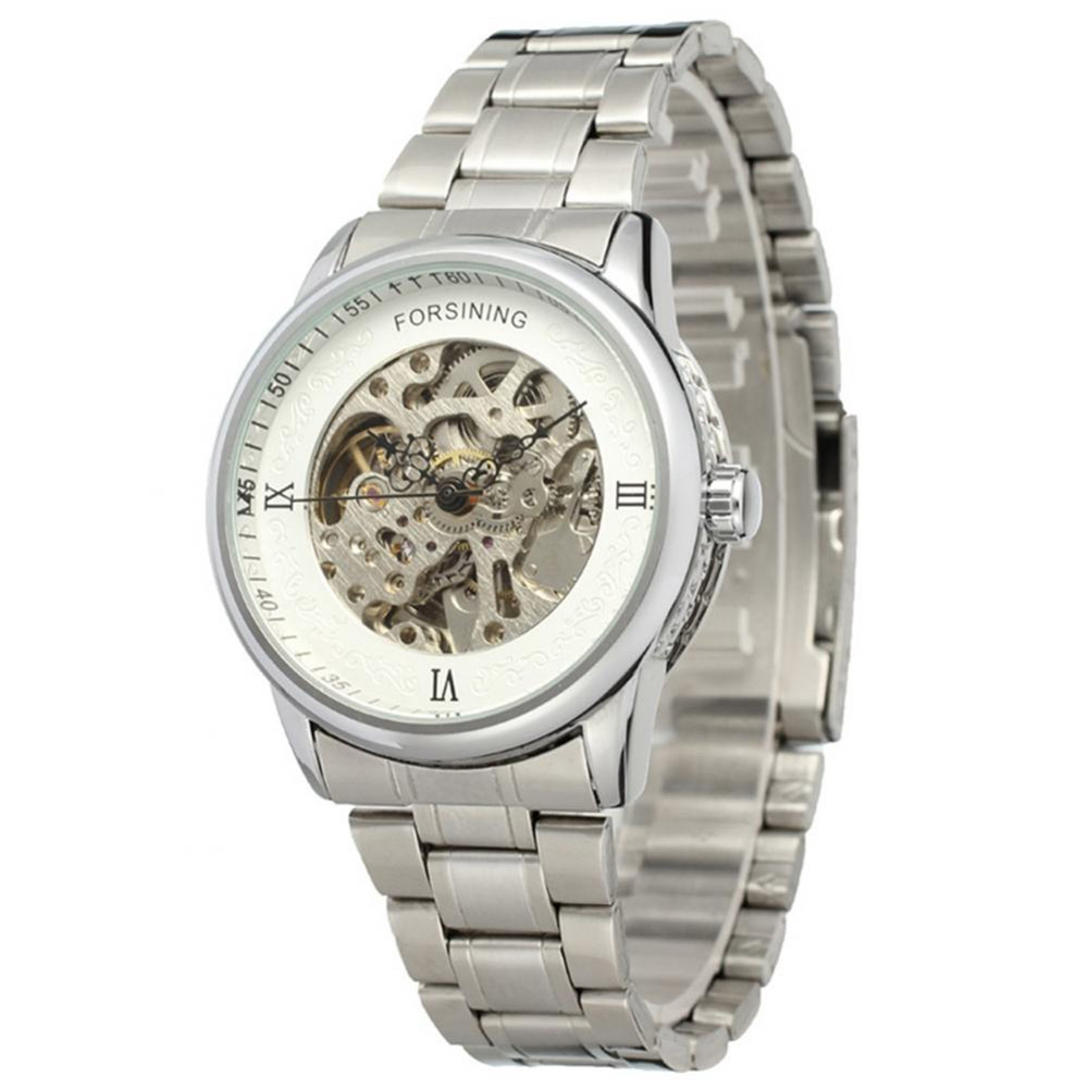 Forsising-Stylish-Men-039-s-Automatic-Watch-Stainless-Steel-Chronograph-WristWatches